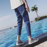 ซื้อ Lescopines ชายกางเกงลำลองญี่ปุ่นออกแบบกางเกงยีนส์ฤดูใบไม้ผลิฤดูใบไม้ร่วง Lescopines ออนไลน์