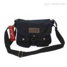 ขาย กระเป๋าสะพาย Levi S ผ้ายีนส์ฟอกสีดำ Levi S Men ออนไลน์