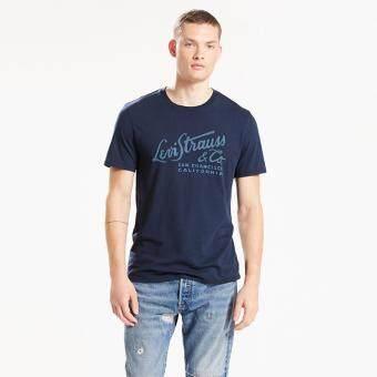 เสื้อ LEVI'S® GRAPHIC T-SHIRT - WORDMARK DRESSBLUE