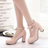 ขาย Leyi Ladies Fashion Breathable Bow Tie With Heel Heels Pink Intl ใหม่