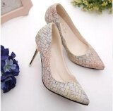 Leyi Ladies Fashion Straw Fine Pointed High Heeled Shoes With Shallow Mouth Multicolor Intl ใหม่ล่าสุด