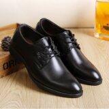 ซื้อ Leyi Leyi ผู้ชาย S ปัก ขึ้นธุรกิจรองเท้าหนัง สีดำ สนามบินนานาชาติ ถูก ใน จีน