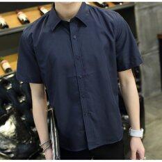 ซื้อ Leyi Men S Casual Fashion Shirts Navy Blue Intl Unbranded Generic ออนไลน์