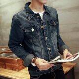 โปรโมชั่น Leyi Men S Fashion Cowboy Coat Of Cultivate One S Morality Blue Intl Unbranded Generic ใหม่ล่าสุด