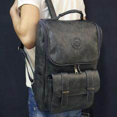 ทบทวน ที่สุด Leyi Men S Fashion Leisure Han Edition Shoulders Knapsack Grey Intl