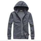 ราคา Leyi Men S Fashion Leisure Sport Hoodie Breathable Solid Cardigan Grey Intl ที่สุด