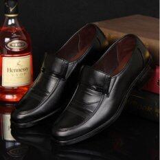 ราคา Leyi ผู้ชายแฟชั่นธุรกิจรองเท้าหนัง สีดำ สนามบินนานาชาติ ถูก