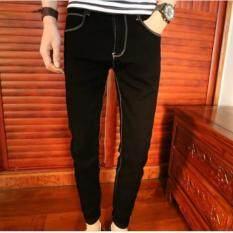 ขาย ซื้อ ออนไลน์ Leyi Men S Jeans Haren Pants Feet Black Intl