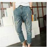 ราคา Leyi Men S Jeans Haren Pants Feet Blue Intl เป็นต้นฉบับ