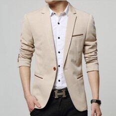 Leyi Men S Korean Youth Small Suit Coat Of Cultivate One S Morality Khaki Intl ใน จีน