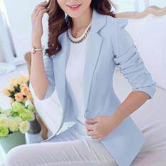 ซื้อ Leyi Ms Han Edition Cultivate One S Morality Long Sleeved Jacket Blue Intl Unbranded Generic เป็นต้นฉบับ