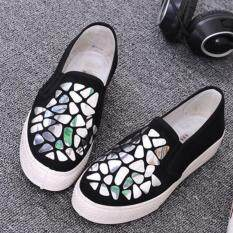 Leyi Sequins Thick Bottom Heighten Casual Shoes Silver Intl เป็นต้นฉบับ