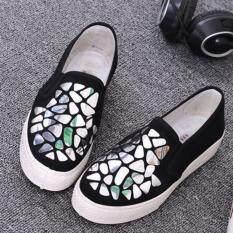 ความคิดเห็น Leyi Sequins Thick Bottom Heighten Casual Shoes Silver Intl