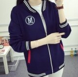 ขาย Leyi Women S Wear Thin Clothes Kuanqiu Zipper Cardigan Jacket Baseball Jacket Blue ผู้ค้าส่ง