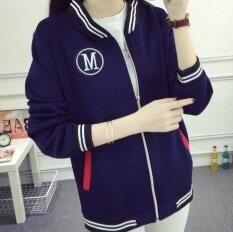 ขาย Leyi Women S Wear Thin Clothes Kuanqiu Zipper Cardigan Jacket Baseball Jacket Blue Leyi