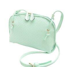 ราคา สีเขียวอ่อนกระเป๋าสะพายไหล่หนังเทียมไอ้ร่างกายตายกระเป๋าถือกางเขน ราคาถูกที่สุด