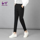 ส่วนลด Likener Trend เอวยางยืดกางเกงฮาเร็มกางเกงลำลองยืดผู้หญิงเต็มตัวไซส์พิเศษ สีดำ