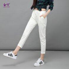 ราคา Likener Trend ลำลองกางเกงรัดข้อเท้ามีฮาเร็ม ความยาวกางเกง ขาว ใหม่ล่าสุด