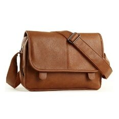 ขาย ซื้อ Lily กระเป๋าสะพายข้าง ผู้ชาย หนัง Pu รุ่น Lc0011 สีน้ำตาล Thailand