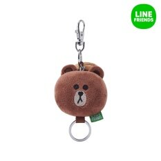 Line Friends Plush Key Ring 5Cm Face Brown Intl Line Friends ถูก ใน เกาหลีใต้