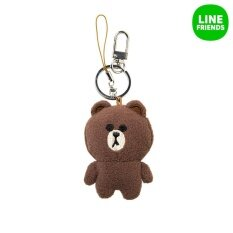 Line Friends Plush Key Ring 7Cm Brown Intl Line Friends ถูก ใน Thailand