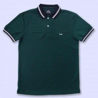 เสื้อโปโล สีเขียวLine Temmakoji
