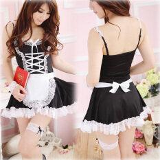 ส่วนลด Lingerie Black White Apron Maid Servant L*l*t* Dress Intl Vakind จีน