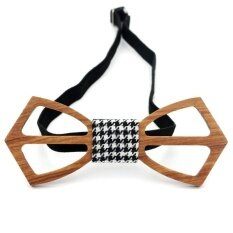 ราคา Lingho Belt 2017 New Arrival Classic Wooden Mens Bow Ties Brand Hollow Carved Wood Bowties For Men Design Corbatas Formal Wear Party Wbt08B Intl Lingho Belt
