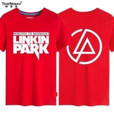ราคา วงร็อค Linkin Park Linkin Park แฟชั่นพิมพ์แขนสั้นเสื้อยืดชายไซส์พิเศษไซส์ใหญ่พิเศษคอกลมเสื้อยืดในช่วงฤดูร้อน 3 ถูก
