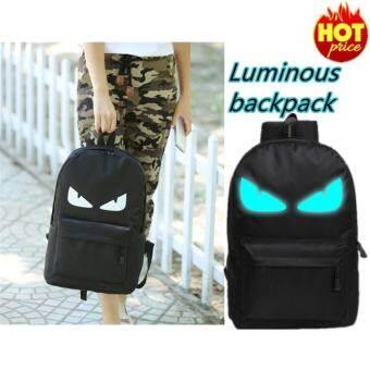 Lions Fashion Noctilucent Men's Backpack Anime Luminous Casual Backpack(Blue Devil)