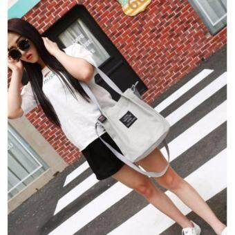 กระเป๋าผ้าแคนวาส live travel 321 ขนาด: 26*29*15 cm สีเทา