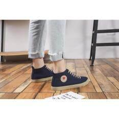 ราคา รองเท้าผ้าใบผู้หญิง Lm322 สีกรม ใน กรุงเทพมหานคร