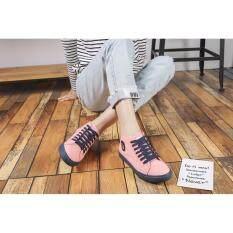 ราคา รองเท้าผ้าใบผู้หญิง Lm322 สีโอรส ใหม่ ถูก