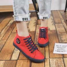 โปรโมชั่น รองเท้าผ้าใบผู้หญิง รุ่น Lm322 สีแดง