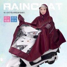 โปรโมชั่น London ชุดเสื้อกันฝนพร้อมคลุมรถจักรยานยนต์ ขับขี่ฝ่าสายฝนได้โดยไม่เปียกทั้งคนและรถพร้อมหมวกกันฝนในตัว Motorcycle Rain Coat Red ไทย