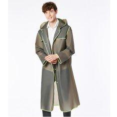 ซื้อ Long Eva Thick Rainwear Universal Rain Coat Waterproof Poncho Grey Intl ออนไลน์ ถูก