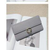ขาย Long Lady Wallet Purse Leather Women Wallets Brand Design High Quality Long Lady Wallet Purse Clutch Grey Intl Unbranded Generic ใน จีน