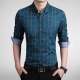 ซื้อ Long Sleeve Men Plaid Slim Cotton Shirts Male Business Summer Casual Shirt Intl Unbranded Generic