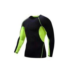 ราคา Long Sleeve Quick Dry Tight Clothing Cycling Speed Dry Clothing(Black D) Intl ใน จีน