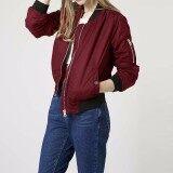 ราคา Long Sleeve Slim Jackets Zanze A Women 2016 Autumn Winter Vintage Stand Collar Celeb Bomber Coats Casual Solid Outwear Plus Size Wine Red Intl