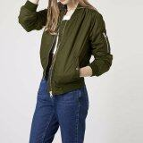 ขาย Long Sleeve Slim Jackets Zanzea Women 2016 Autumn Winter Vintage Stand Collar Celeb Bomber Coats Casual Solid Outwear Plus Size Army Green Intl ออนไลน์