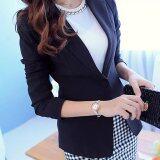 ขาย Long Sleeve Women Blazers Jackets Suit Spring Autumn Single Button Female Ladies Blazer Black Intl ออนไลน์