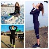 ซื้อ Long Sleeved Sunscreen Swimsuit Show Thin Conservative Pants Sportswear Diving Suits Split Black White Intl ออนไลน์