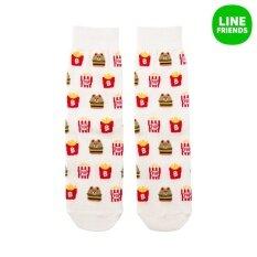 ราคา ถุงเท้ายาวสำหรับ Women Chips เบอร์เกอร์ Offwh Burger ชิป ออนไลน์ เกาหลีใต้