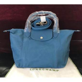 กระเป๋าหนังแท้ Longchamp LE PLIAGE CUIR HANDBAG Size S ICE BLUE-