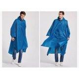 ขาย ซื้อ Longsinger เสื้อปอนโชกันฝน เสื้อกันฝน แบบมีฮู้ด รุ่น 3In1 สีน้ำเงิน Thailand