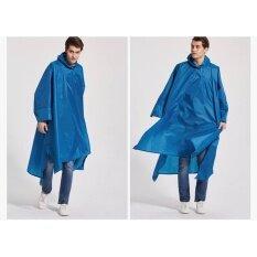 ซื้อ Longsinger เสื้อปอนโชกันฝน เสื้อกันฝน แบบมีฮู้ด รุ่น 3In1 สีน้ำเงิน ถูก ใน Thailand