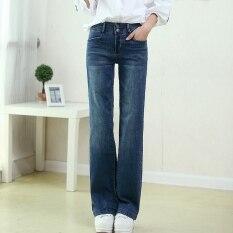 ขาย กางเกงยีนส์ฤดูใบไม้ร่วงหลวมกางเกงขายาวสีเข้มเพศหญิง สีน้ำเงินเข้ม ออนไลน์ ฮ่องกง