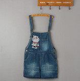 ราคา เสนหญิงปักหลาใหญ่กางเกงขาสั้น Looesn กางเกงยีน สีฟ้า Unbranded Generic ใหม่