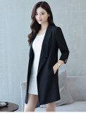 ขาย Looesn สบายแขนหญิงส่วนยาวแจ็คเก็ตเสื้อกันลมสีดำ สีดำ ถูก ใน ฮ่องกง
